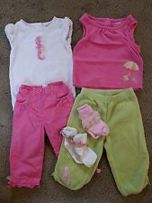 Gymboree Infant Baby Girls Beach Seahorse outfits size 12-18 months EUC lot