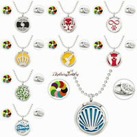 Steel Twist Aromatherapy Essential Oil Locket  Perfume Diffuser Pendant Necklace