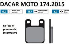 174.2015 PLAQUETTE DE FREIN SINTERED POLINI MALAGUTI : XTM 50 Minarelli AM6
