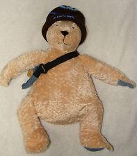 """North American Bear Co NYC Delia's Plush Teddy Bear Denim Bag Feet Bag Hat 15"""""""