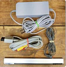 Original Nintendo Wii Power Cord - AV Cable - Motion Sensor Bar - Bundle OEM