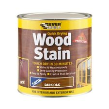Everbuild Quick Dry Woodstain Satin Dark Oak 750ml Evbwsdo750