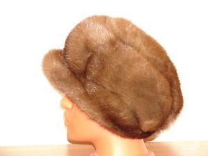 Mink Real Fur Hat Natural Genuine Fur Mink
