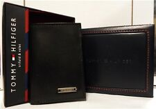 100% AUTHENTIC MEN'S DESIGNER-TOMMY HILFIGER LEATHER TRIFOLD WALLET BROWN GIFT