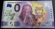 Billet Touristique Souvenir 0 euro Marquis de Pombal Signature 2021