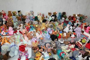 Lot 200 Beanie Babies all Tagged Retired Bears Friends No Dupes