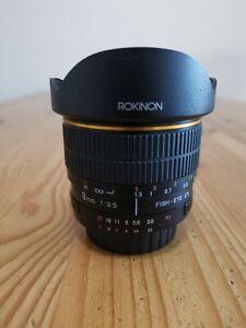 Rokinon 8mm f3.5 Fisheye Lens - Nikon Mount APS-C DX