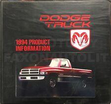 1994 Dodge Truck Upholstery Book Dealer Album Ram 1500 2500 3500 Pickup Van