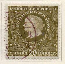 Montenegro 1910 PRIMA EMISSIONE USATO FINE 20pa. 147330