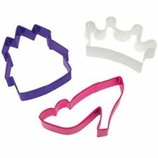 WILTON PRINCESS COOKIE CUTTER SET  - 3 pieces