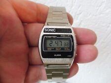 Reloj de pulsera hermosas __ Sonic __ alarma ___ vintage LED-reloj ___!