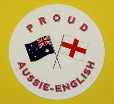 PROUD AUSSIE - ENGLISH AUSTRALIAN STICKER VINYL DECAL CAR UTE TRUCK CARAVAN