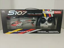 Syma S107G Gyro Metal Infrared 3CH RC Drone Mini Helicopter Red Christmas
