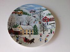 PRE-OWNED WUNSIEDEL BAVARIA PORZELLAN  WINTER COLLECTOR PLATE