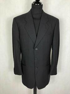 GIORGIO ARMANI Men's Jacket Wool Elegant Black Man Jacket Blazer SZ.XL - 52
