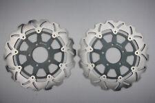 Paire disques frein avant wave 300mm pour Suzuki GSXR 1000  2003-2004 K3 K4