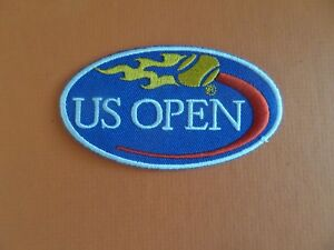 "U.S.OPEN TENNIS"" RED & BLUE EMBROIDERED IRON ON PATCHES 2 X 3-1/2"