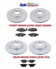 FOR VW GOLF MK7 13>17 FRONT & REAR BRAKE DISCS & PADS COMPLETE SET DISCS 288MM