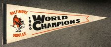 1966 Baltimore Orioles World Champions Bird Holding Trophy Pennant Full Size