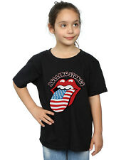 Rolling Stones Niñas American Flag Camiseta