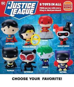 Burger King 2021 DC Comics Justice League POP Mini Figures-Pick Your Favorite!