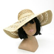 GAP Natural Raffia Straw Natural Wide Brim Summer Hat SZ M / L