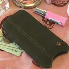 iPhone 5c Case Green Cotton Twill NueVue Screen Cleaning Sanitizing Pouch