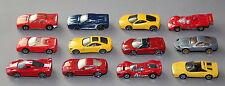 12x Ferrari Modellauto o. Ovp, 11 stück von Mattel / Hot Wheels 1:64 - . - (317)