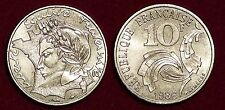 10 francs 1986 Republique FRANCE recalled and melted no longer legal tender