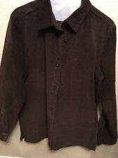 Women's Style & Co 100% Leather Shirt Brown M
