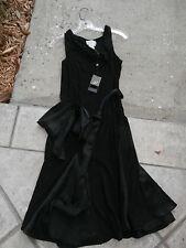 NWT NEW ADRIANNA PAPELL Black Slinky BELTED Dress 12 MEDIUM $199