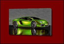Car lamborghini aventador supercar green