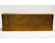 Antique Gloves Dresser Box Victorian 1800s Cherries Wooden Vanity Arts & Crafts