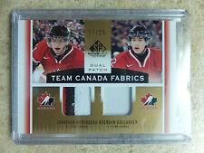 13-14 SP Game Used Team Canada Fabrics JONATHAN HUBERDEAU/BRENDAN GALLAGHER /25