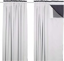 "BLACKOUT THERMAL CURTAIN LINING INSULATED 3 PASS ""Curtain Hooks Included"""
