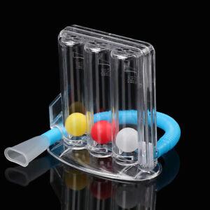 UK Three-ball Breathing Trainer Incentive Spirometer Lung Respiratory Exerciser
