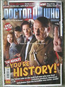 Dr Doctor Who magazine issue 438 21 September 2011 Matt Smith David Walliams
