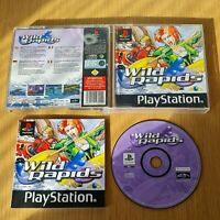 WILD RAPIDS PLAYSTATION PS1 PAL GAME COMPLETE WITH MANUAL FREE P&P