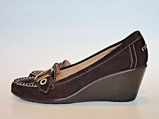NATURALIZER {Size 9m} TEMPERO Brown Penny Loafer Wedge High Heels EXCELLENT!