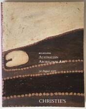 Australian Aboriginal Art Christie's Melbourne 30 august 2005