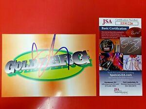 Bill Goldberg Signed 1998 Panini WCW/NWO Superstars #11 4x6 Postcard JSA COA