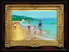 "ORIGINAL Oil Painting Handmade Arseni ~ SEA 6"" X 4"" NO FRAME Artist REMBRANDT3"