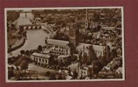 Worcester Cathedral. Aero Pictorial Air Photograph  vintage postcard  da41b