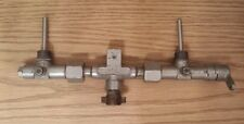 1950's Us Divers Twin Tank Manifold from Double Hose Dive Regulator Scuba Diving