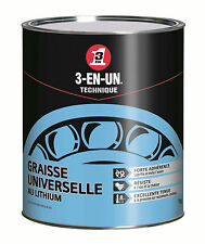3-EN-UN - Graisse Universelle au lithium - pot 1 kg - anti-usure - anti-rouille