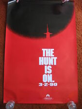 HUNT FOR RED OCTOBER ADVANCE original MOVIE POSTER >ROLLED 1989 >1980's