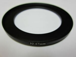 Adapter Filter Lens Step Up Ring 52-67mm 52mm to 67mm