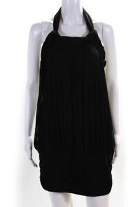 Twin Set Simona Barbieri Womens Halter Dress Black Size Large