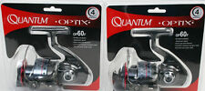 2 Quantum Optix OP60F Saltwater Spin Fishing Reels, NEW