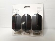 Project 62 3 Pack Hexagonal Galaxy Shield Hook Set Black Includes Hardware New